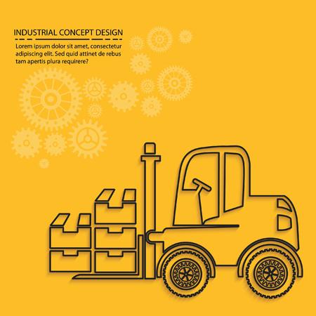 machine operator: Forklift concept design,vector