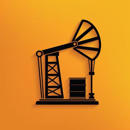 hull: Oil industry concept design,vector Illustration