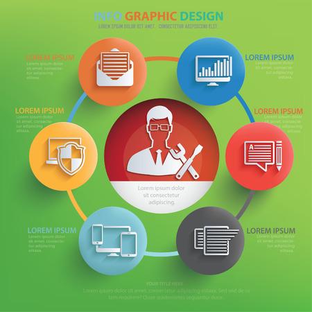 provide: Admin,development concept design,vector