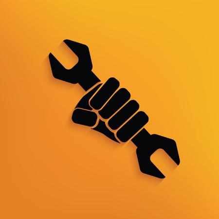 Repair concept design,vector