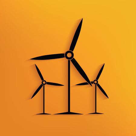 Turbina eolica concetto di design, vettore Vettoriali