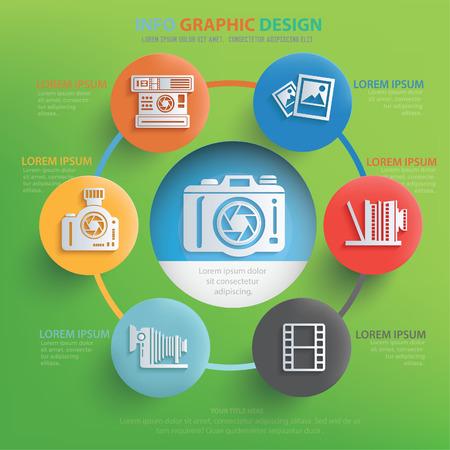 photo printer: Photography concept design,vector