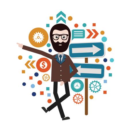 assistant: Businessman concept design,vector