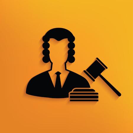 female judge: Law concept design,vector