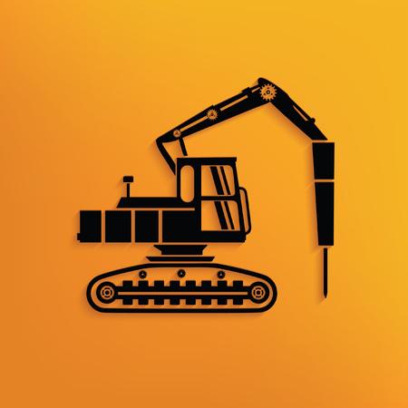 motor de carro: Concepto de la construcci�n del coche del dise�o, vector