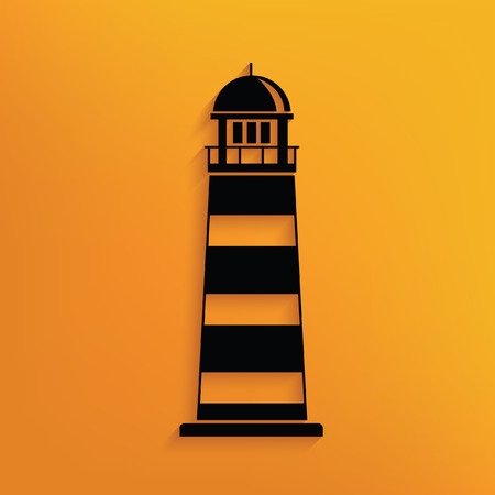 hope symbol of light: Lighthouse concept design,vector Illustration