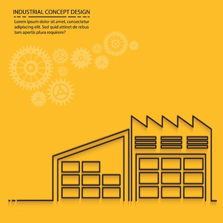 storage facility: Warehouse concept design,vector