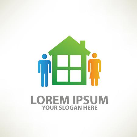 home design: Family,home design,vector Illustration