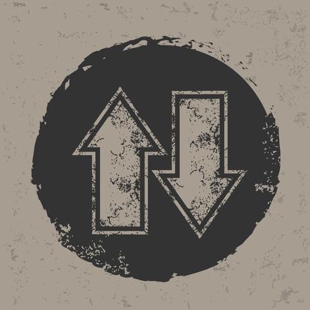 black button: Arrow icon,vector