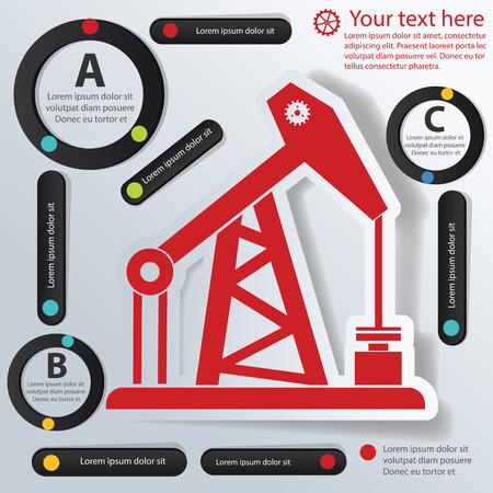 industry: Oil industry icon,vector