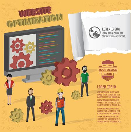 optimisation: Web optimisation icon,vector