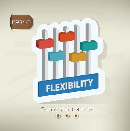 flexible business: Flexibility,data analysis design,vector