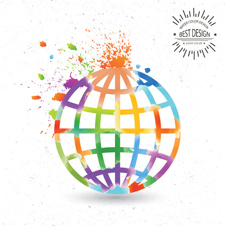 Global design,vector Ilustracje wektorowe