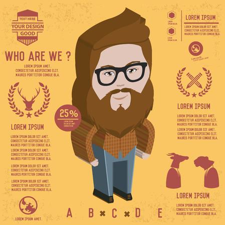 bakelite: Hipster design,vector Illustration