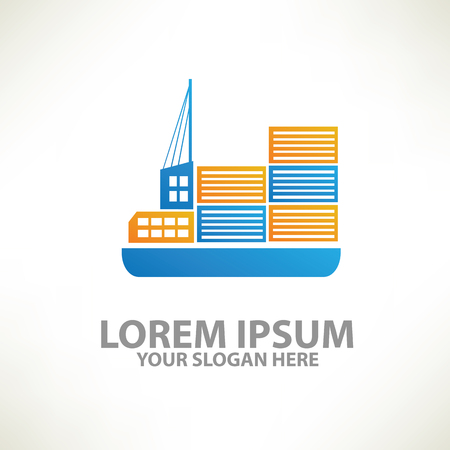 bulk carrier: Container ship design,vector