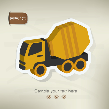 compact track loader: Construction car design,vector Illustration