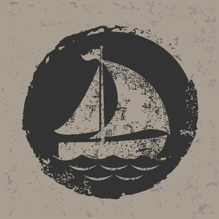 Sailboat design,vector