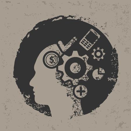 Brainstorm design,vector