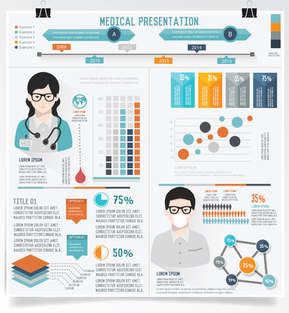 cross bar: Medical info graphic design,vector
