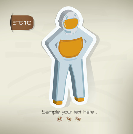 outer clothing: Astronaut design,vector