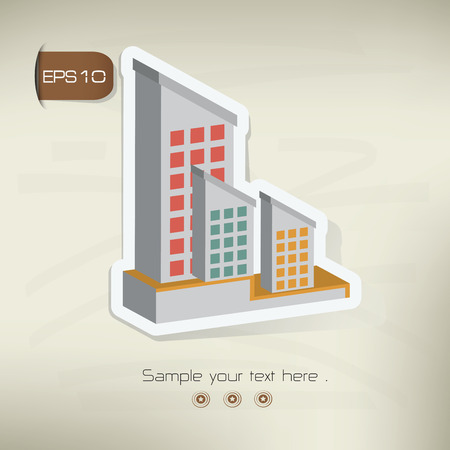 building lot: Real estate design,vector Illustration