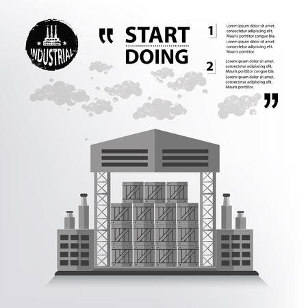 transportation facilities: Warehouse concept design,vector
