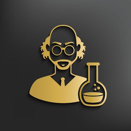 Scientist concept design,vector Illustration