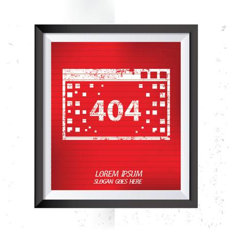 error: 404 Error concept design,vector Illustration