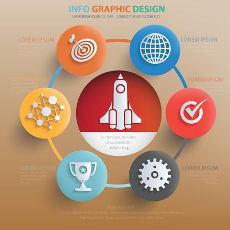 geeky: Business start up concept design,vector
