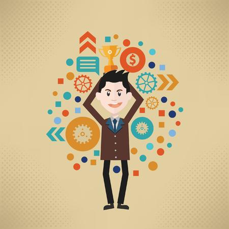 trained: Businessman concept design,vector