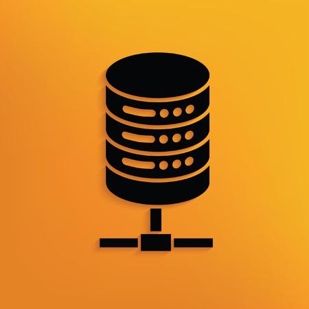 anywhere: Database concept design,vector Illustration