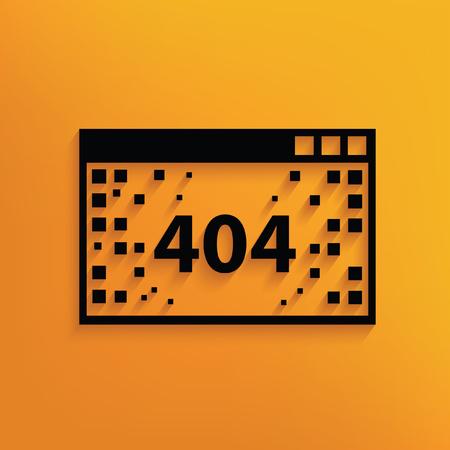 disconnection: 404 Error concept design,vector Illustration