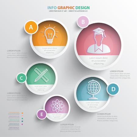 Education concept de design, vecteur
