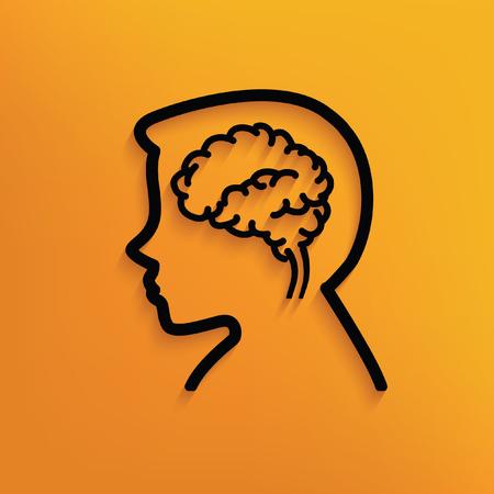 Brain concept design,vector