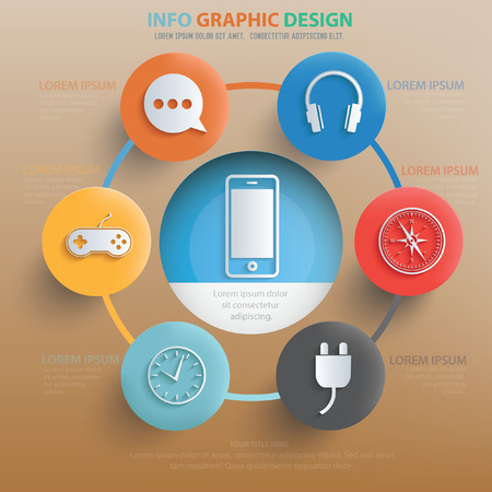 Media,technology concept design,vector Illustration