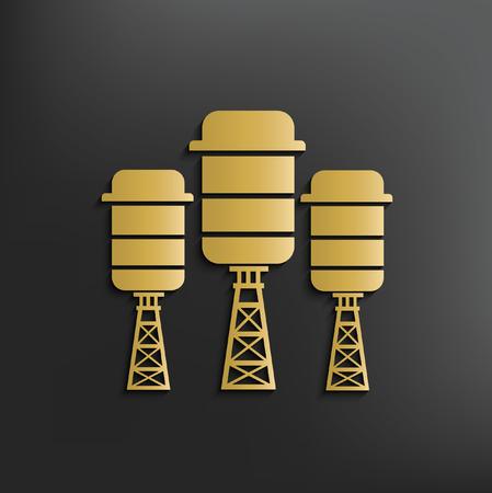 coal power station: Tank,industry concept design,vector Illustration