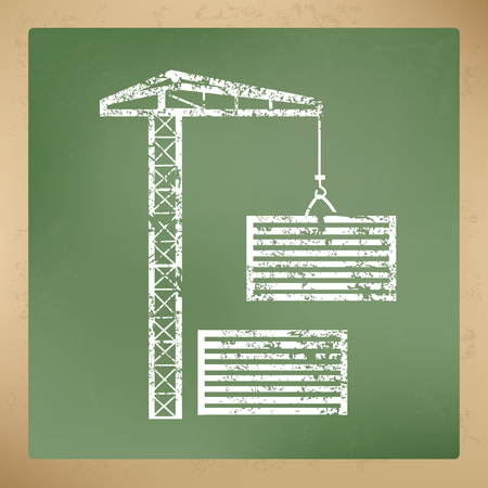 pulley: Container,crane concept design,vector