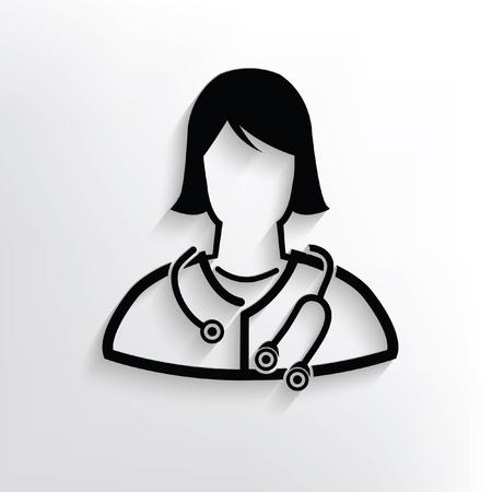 eye bandage: Doctor concept design,vector