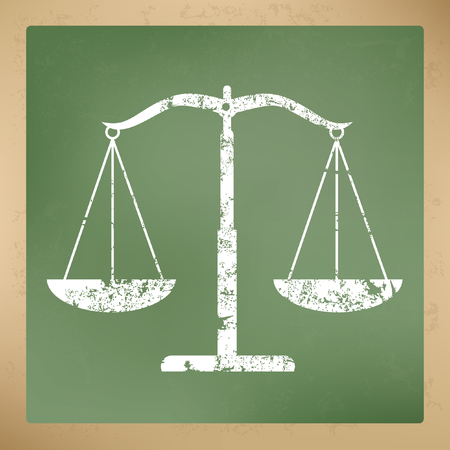 acquittal: Justice scale concept design,vector