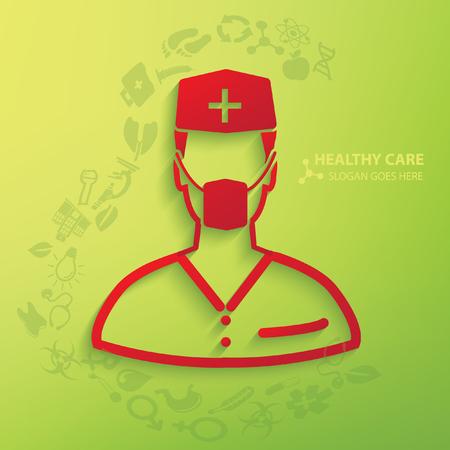 md: Doctor,medical concept design,vector