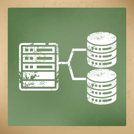 Database, concetto di rete disegno, vettore