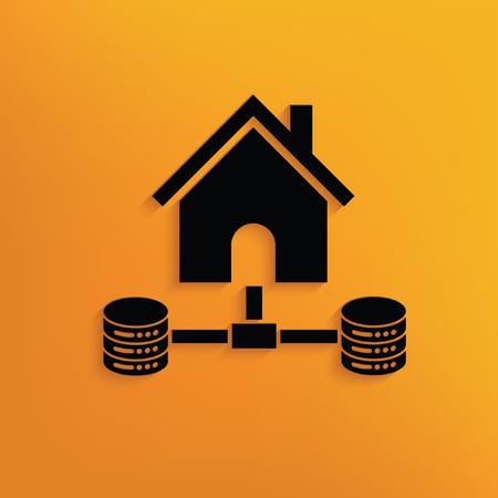 Database,hosting concept design,vector