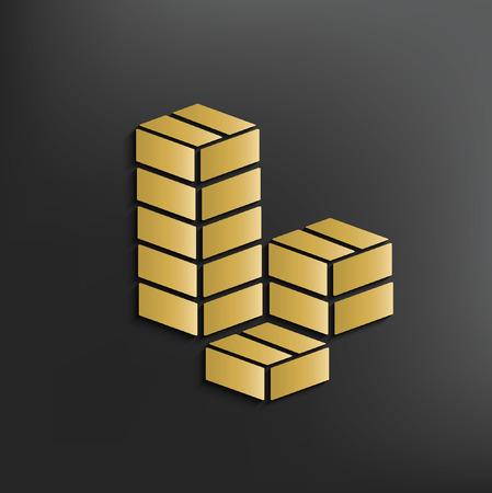 shipped: Box,cargo concept design,vector