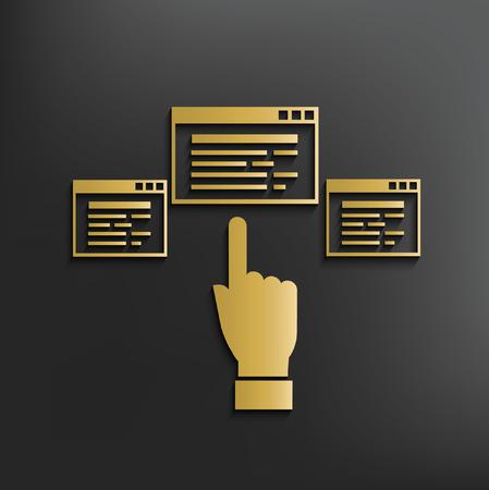 referral: Click concept design,vector