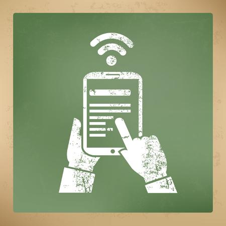 network strenght: Wireless concept design,vector