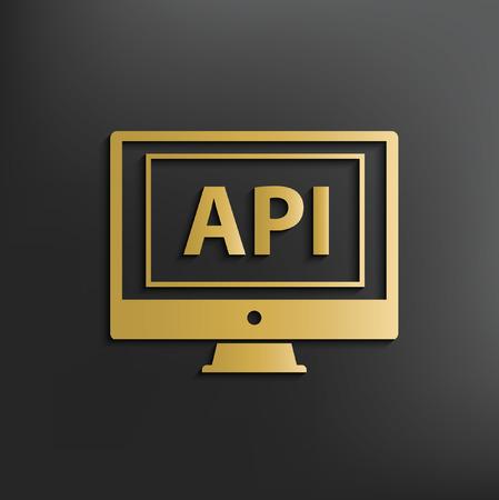 api: API computer concept design,vector