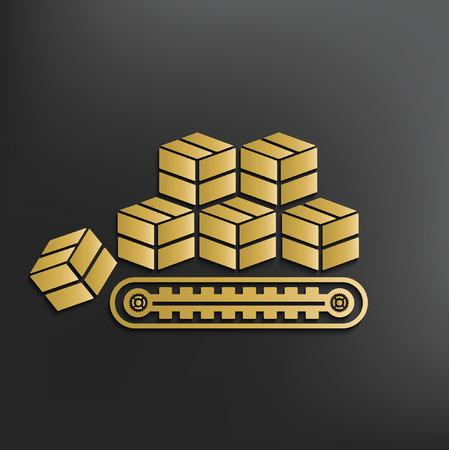 package sending: Cargo,box concept design,vector