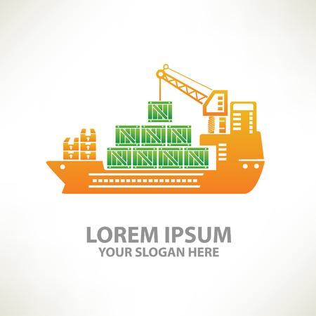 sea tanker ship: Container ship concept design,vector
