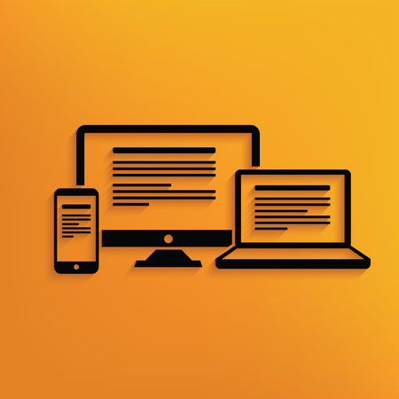 flexible business: Responsive,computer concept design,vector