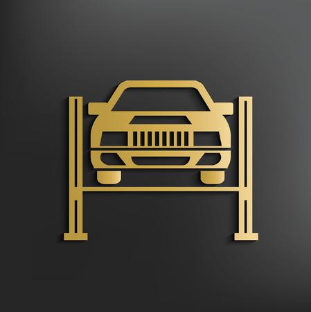 Car service concept design,vector
